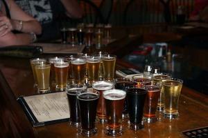 Beer Sampling at Devils Backbone brewery